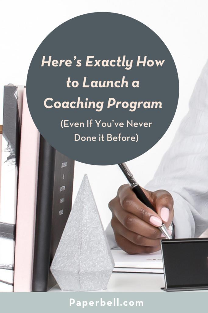 how to launch a coaching program pin