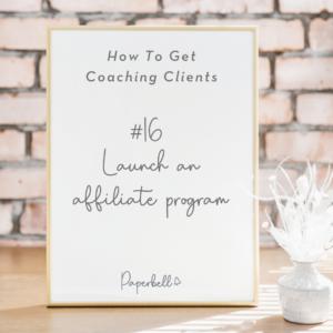 Launch an affiliate program
