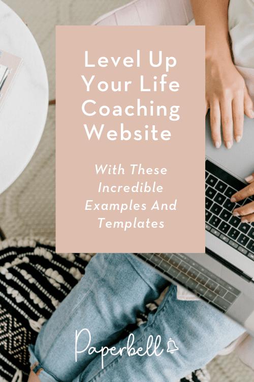 life coaching websites pin
