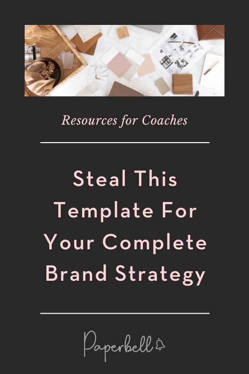 brand strategy template pin