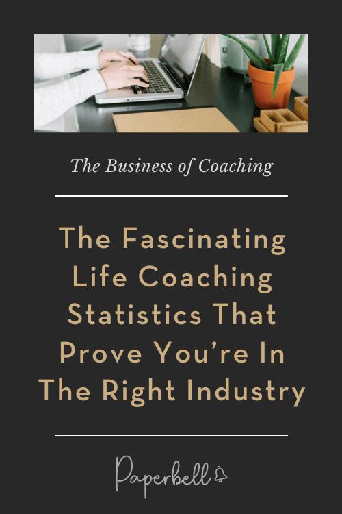 life coaching statistics pin