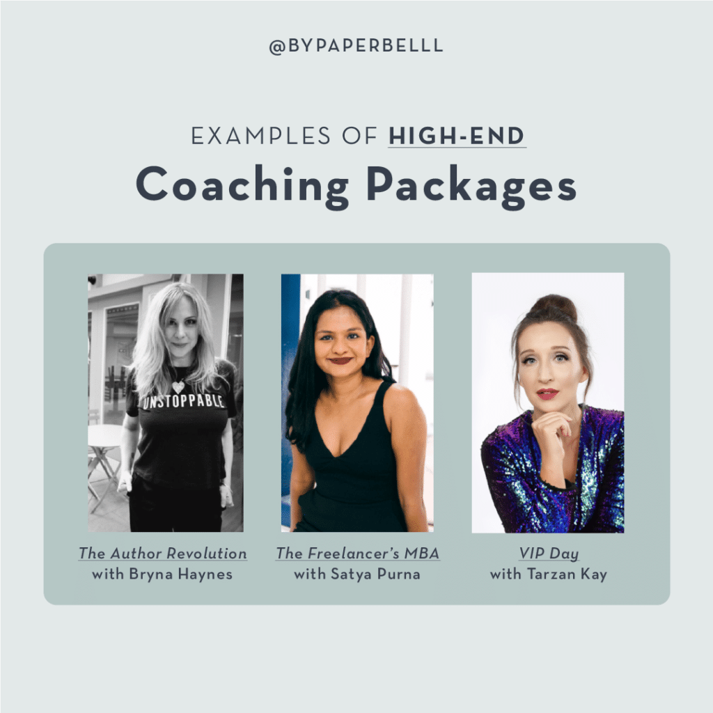 Examples of High-End Coaching Packages