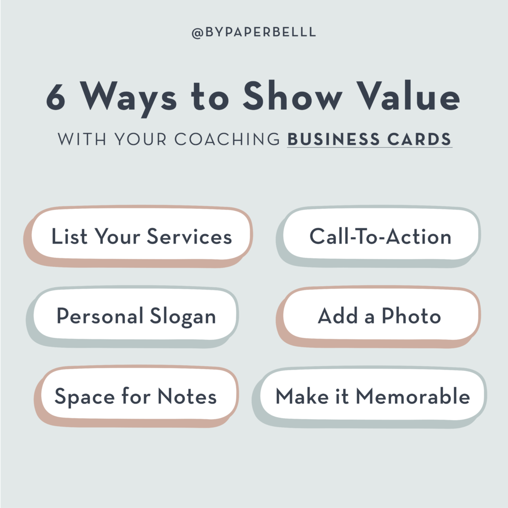 6 Ways to Show Value with Your Coaching Business Cards