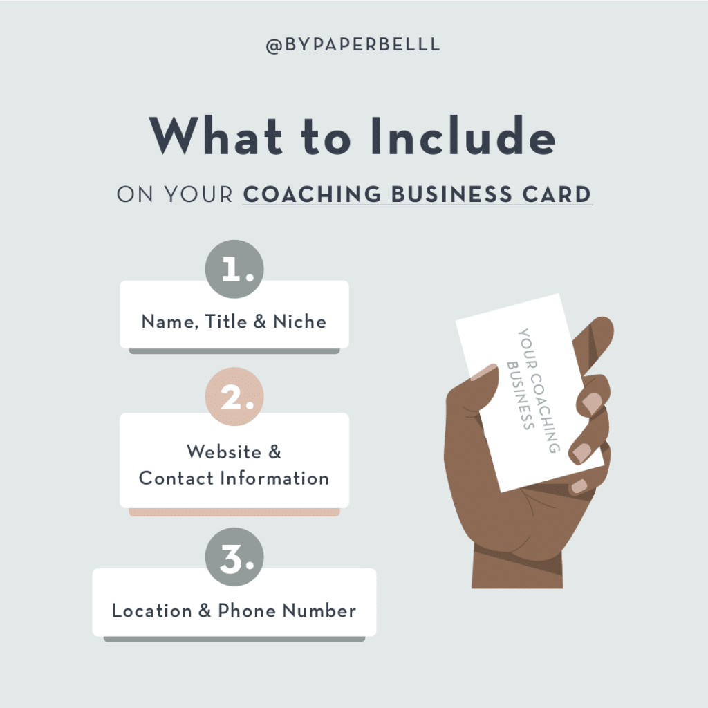 What to Include on Your Coaching Business Cards
