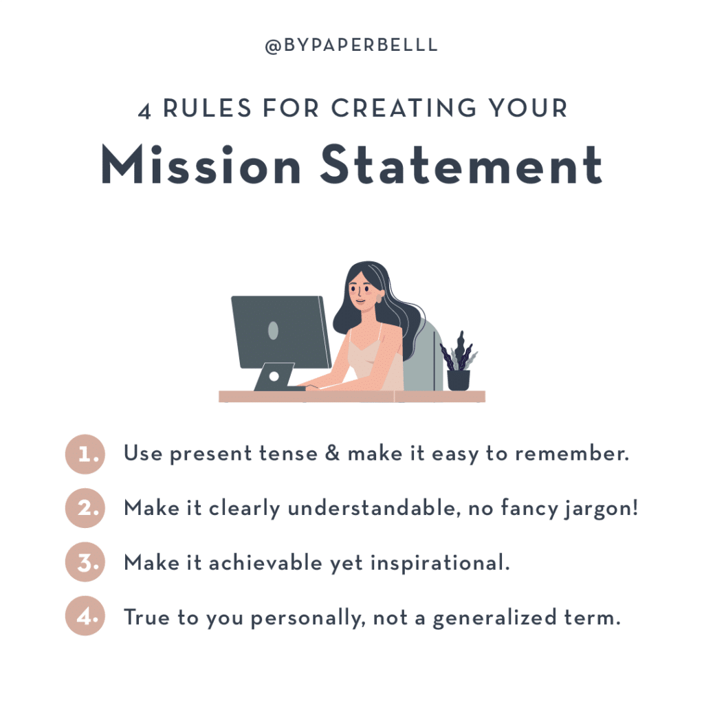 4 Rules for Creating Your Mission Statement
