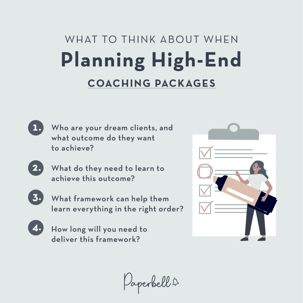 What to Think About When Planning High-End Coaching Packages