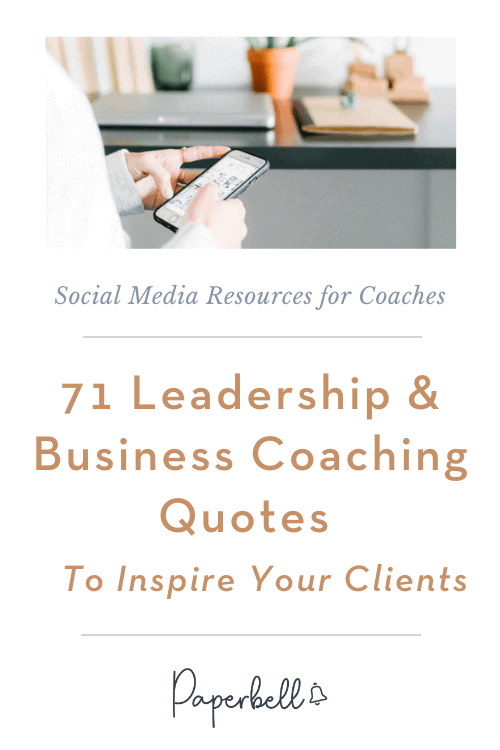 business coaching quotes pin