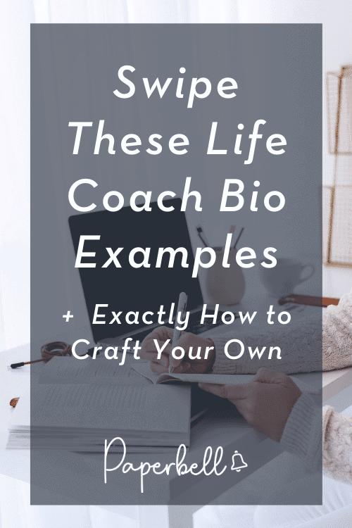life coach bio examples