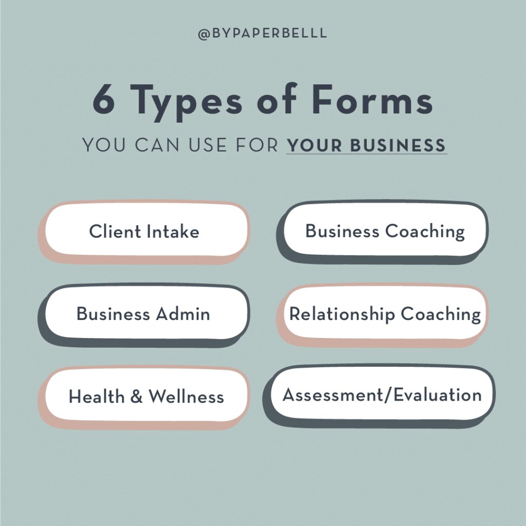 6 Types of Forms