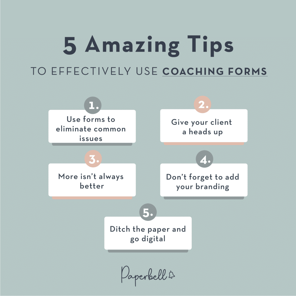 5 Amazing Tips to Effectively Use Coaching Forms