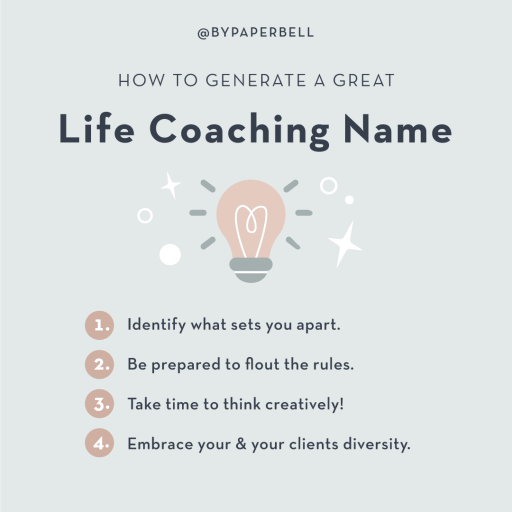 How to Generate a Great Life Coaching Name