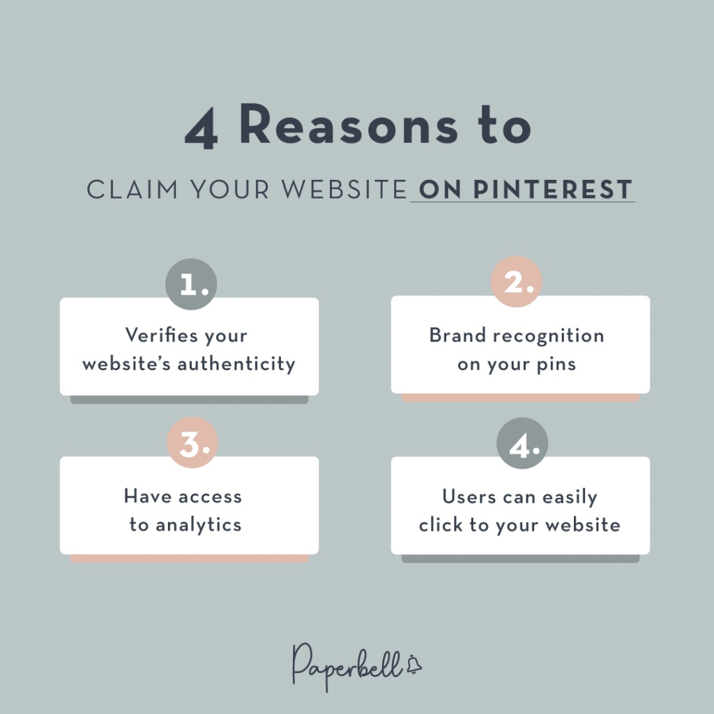 4 Reasons to Claim your Website on Pinterest