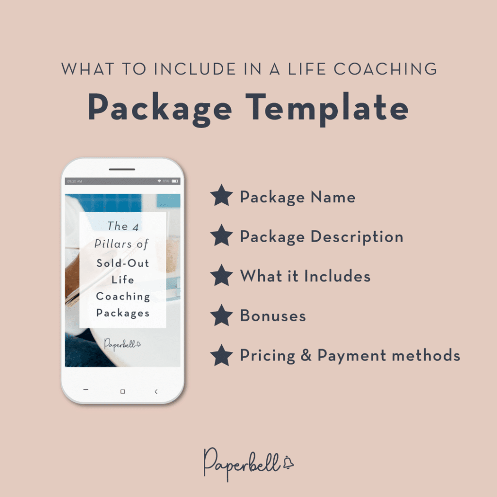 What to Include in a Life Coaching Package Template