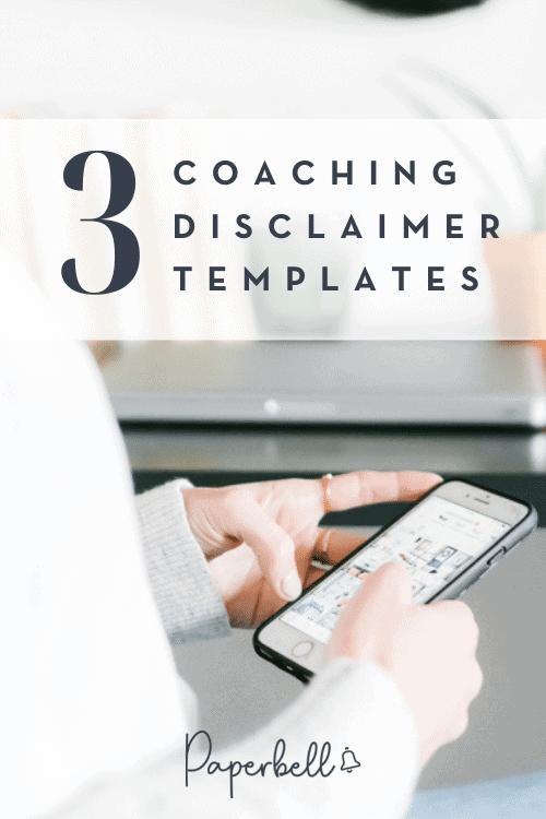 coaching disclaimer template
